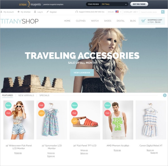 Fashion Boutique Magento Website Theme $49