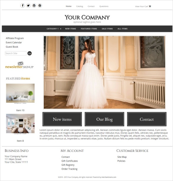 jewelry boutique website theme
