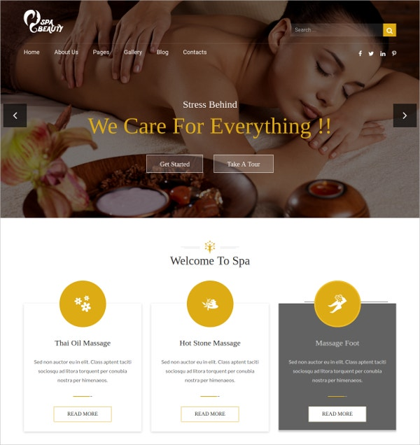 Spa Saloon Health & Beauty Care HTML Blog Template