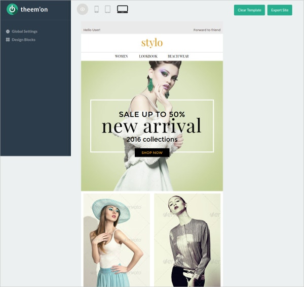 Shopping Offers e-Commerce Newsletter Blog Template