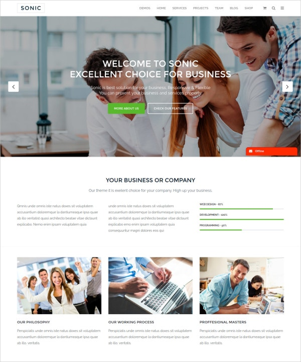 Responsive & Multipurpose WordPress Blog Theme