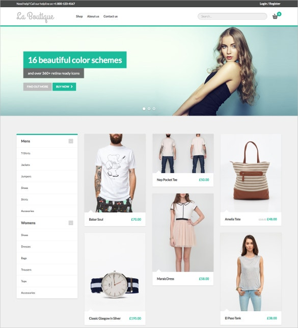 Boutique Multipurpose WooCommerce Website Theme $59