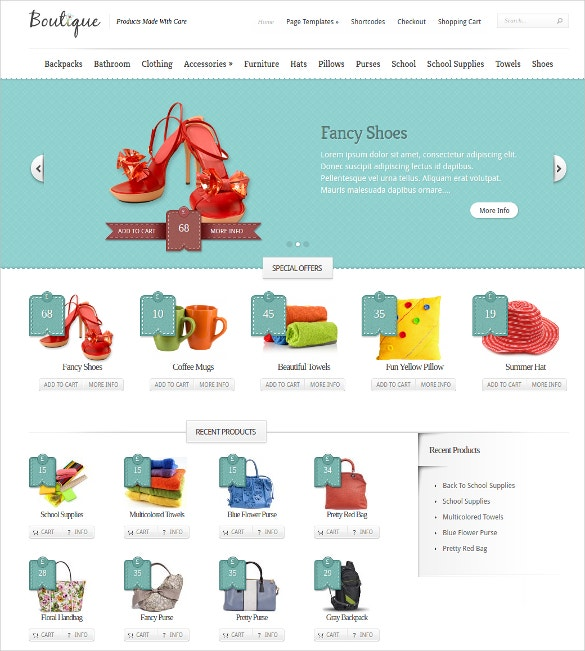 Boutique Elegant WordPress Website Theme