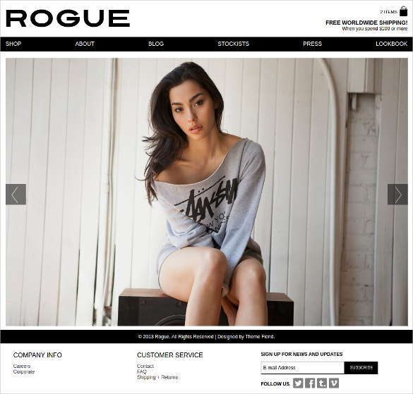 Modern Design Boutique Website Theme $99