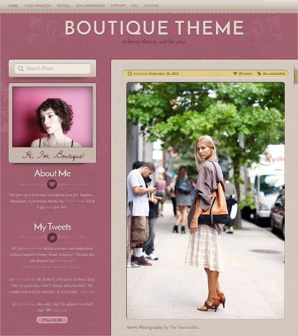 boutique tumblr website theme