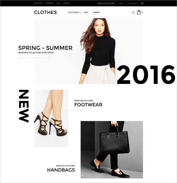 Summer Clothes Store Boutique Magento Website Theme $179