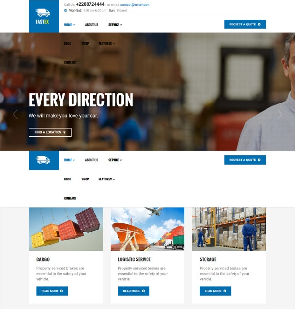 Logistics Joomla Template