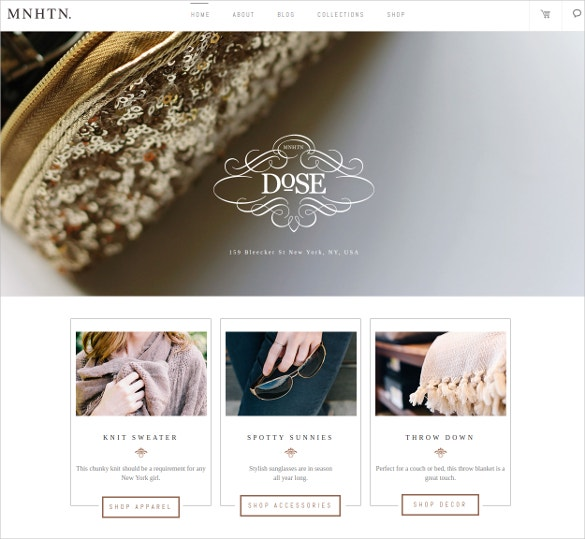 fashionable women boutique website theme
