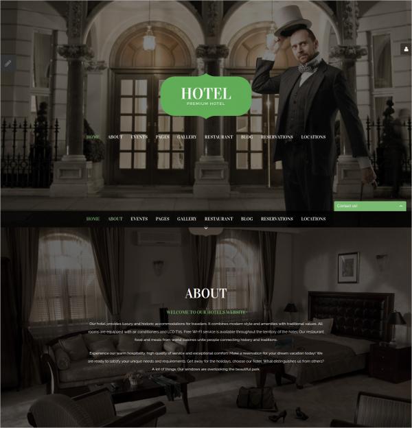 Premium Hotel Responsive Joomla Template