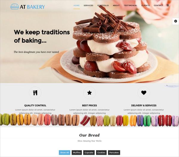 Bakery Onepage Joomla Template