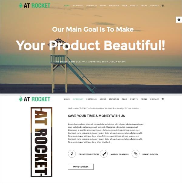 Rocket Onepage Joomla Template