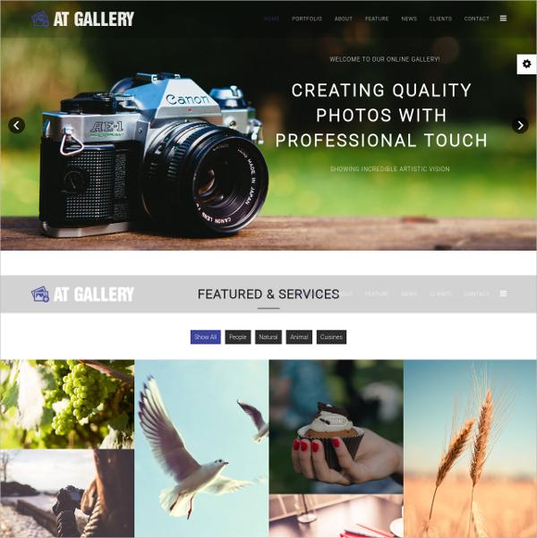 Gallery OnePage Joomla Template