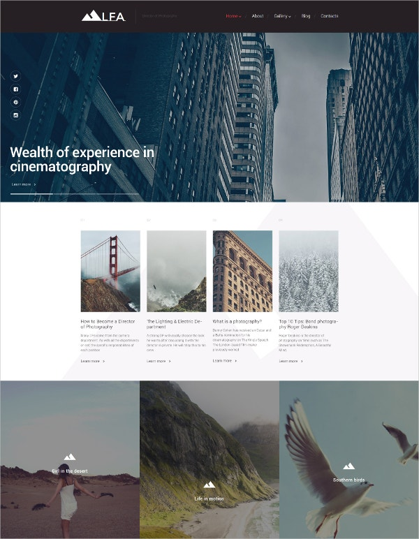 Cinematography WordPress Template