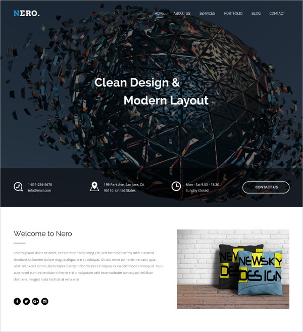Responsive Portfolio & Multipurpose WordPress Template