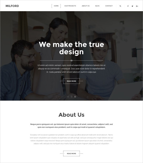 Minimal Creative WordPress Template