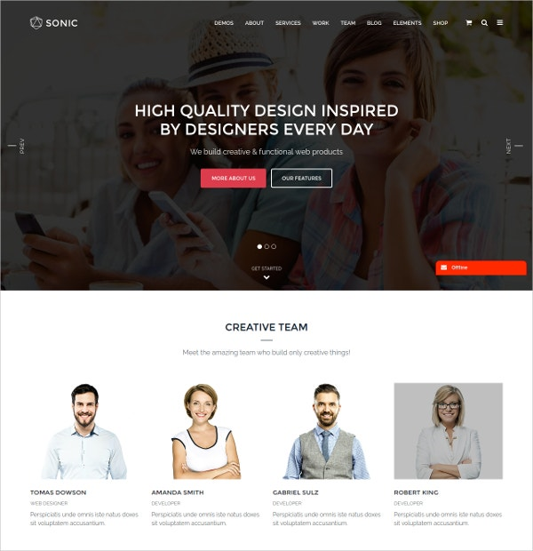 Responsive & Multipurpose WordPress Theme
