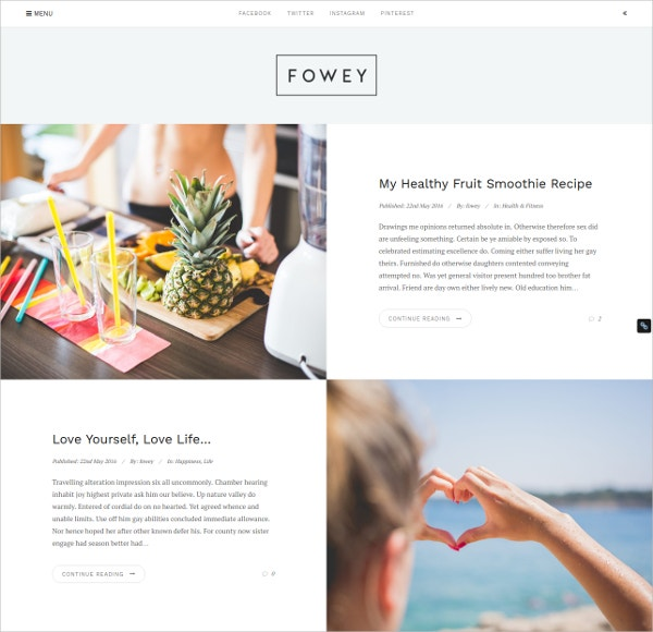 Beautifully Minimal WordPress Theme