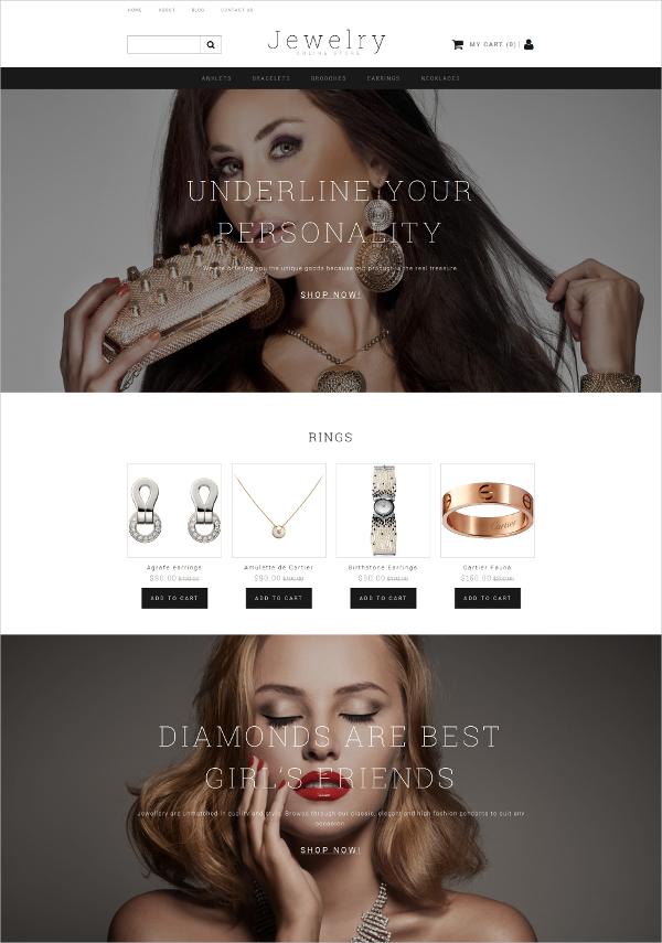 Jewelry Responsive MotoCMS Ecommerce Template