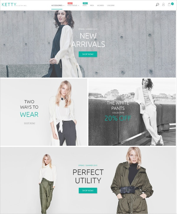 Ecommerce Fashion Clothes Store Magento Theme