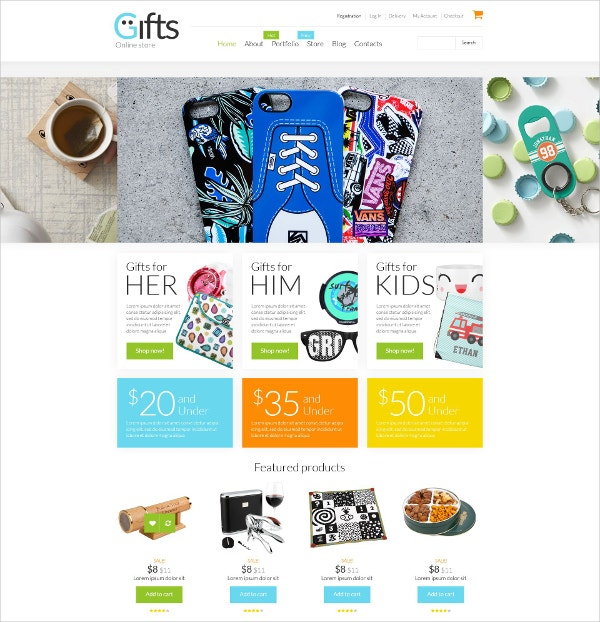 Ecommerce Gifts Shop WooCommerce Theme