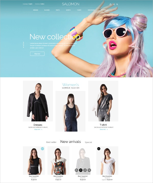 Ecommerce Fashion Store PSD Template
