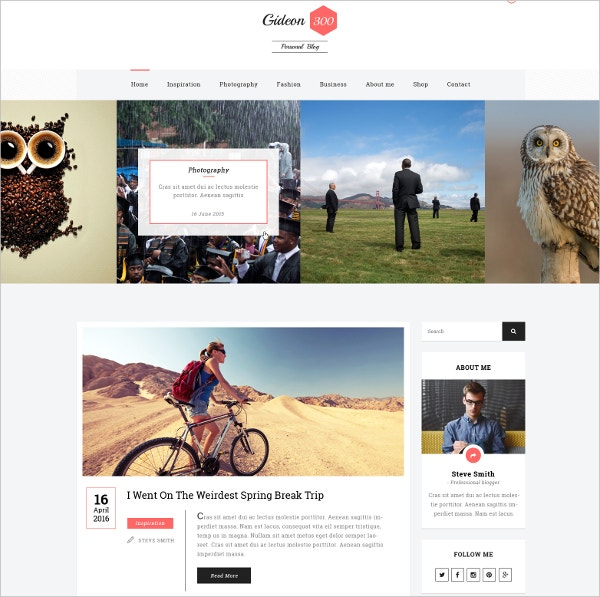 personal blog ecommerce html template