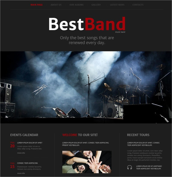 best music band website template 69