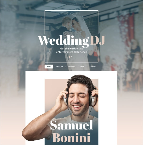 dj music responsive website template 75