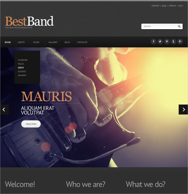 creative music band joomla website template 75