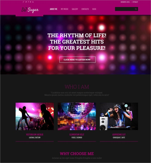 dj responsive music wordpress website theme 75