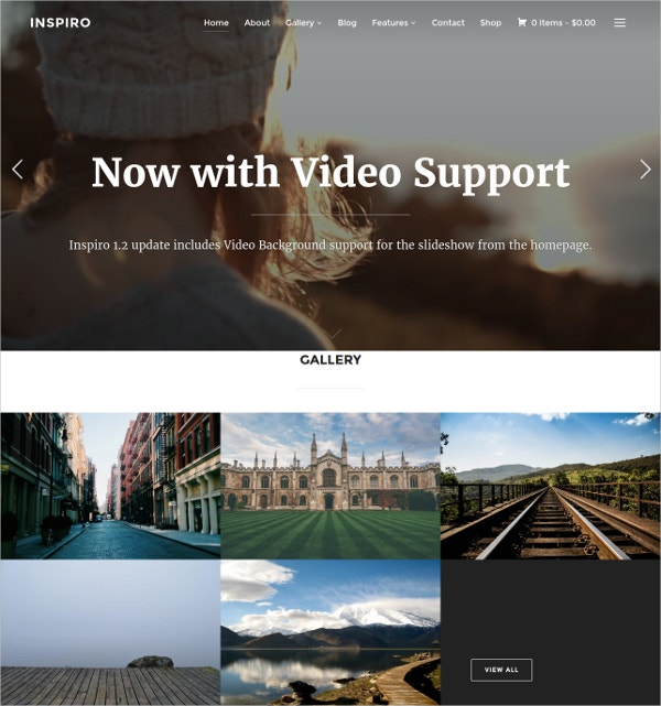 Professional Photographer Website Theme $69