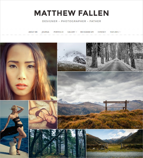 Unique Photography WordPress Website Theme $39