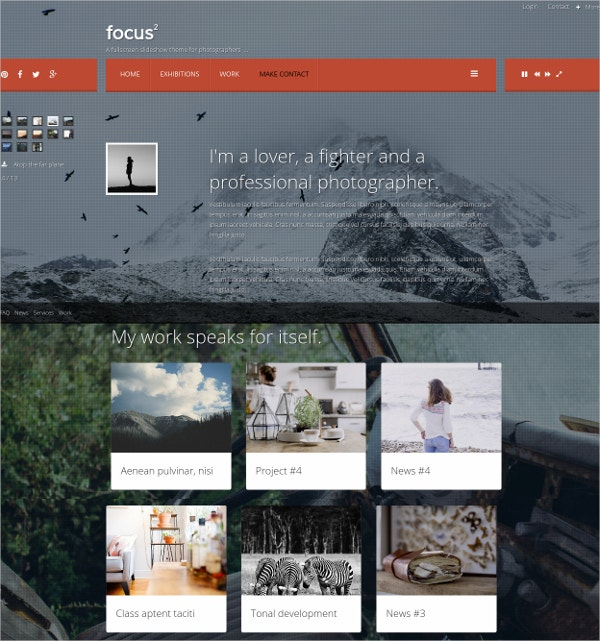 fullscreen photo joomla website theme