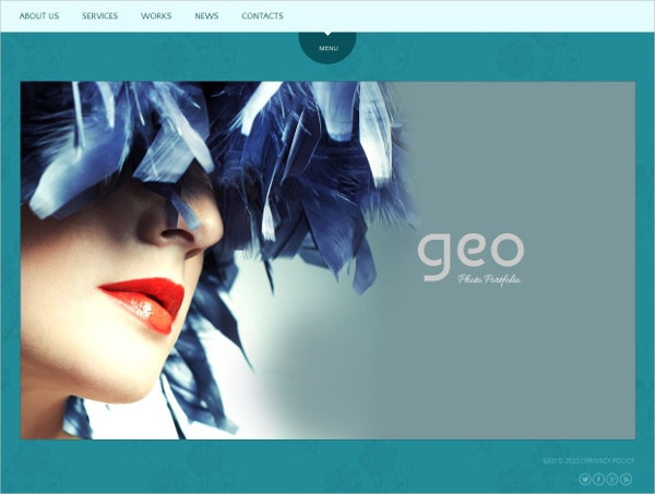 Photographer Portfolio Gallery Website Template $139