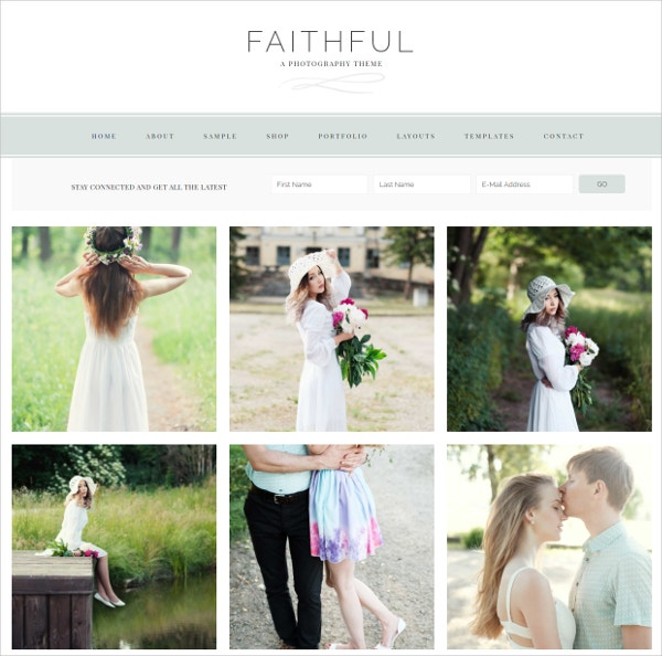 Photography WordPress Website Theme $75