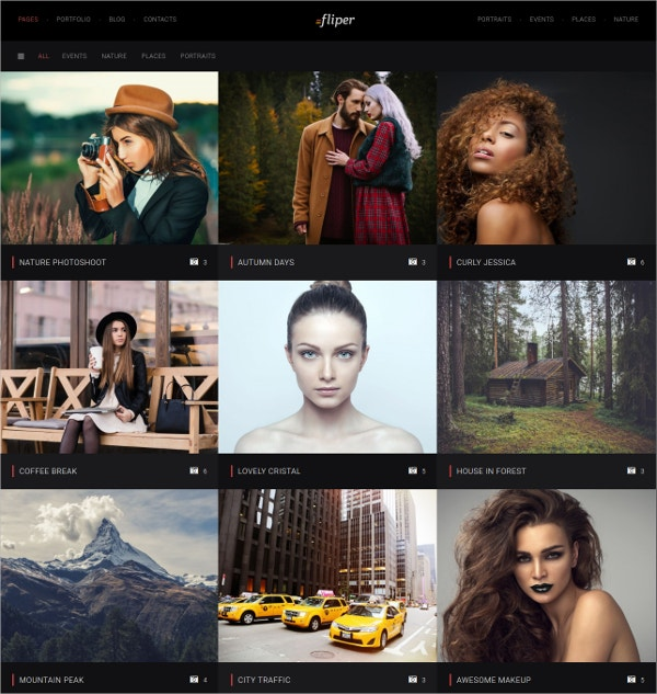 Photo Fullscreen WordPress Website Theme $49
