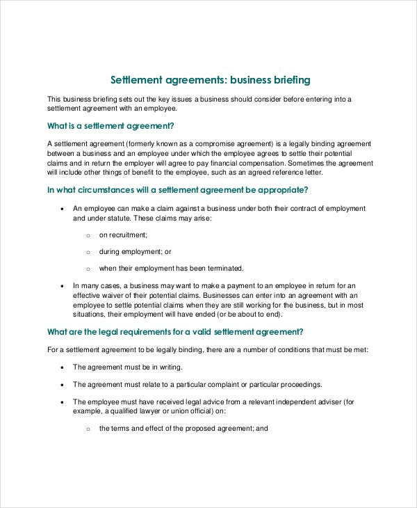 Confidentiality Settlement Agreement   Free Word Pdf Documents