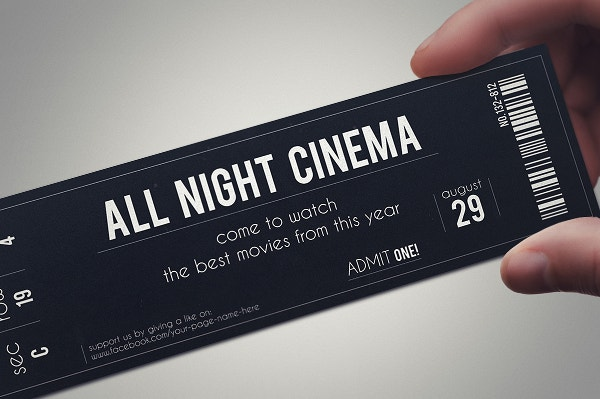 stylish fabric ticket template