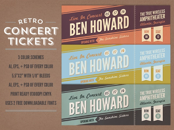 Ticket Templates  Free Sample Example Format  Free