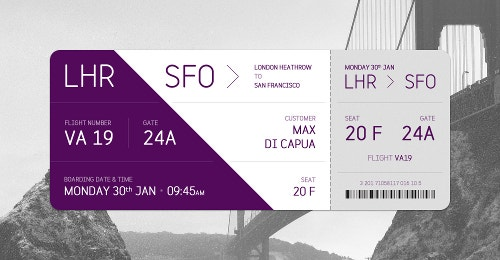 little trip plain ticket template