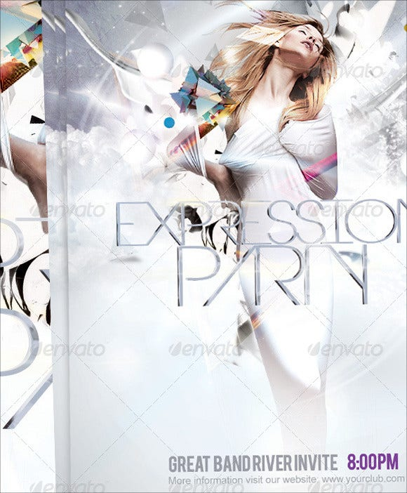 3d expression party flyer