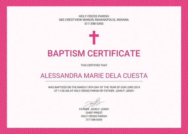 baptism certificate 12 free word pdf documents download free