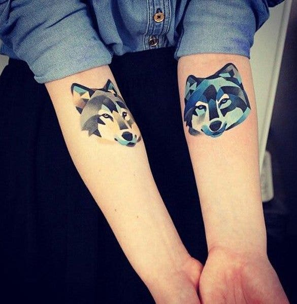 best watercolor tattoo of fox2
