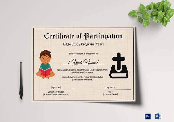 bible-prophecy-program-certificate-for-kids-template