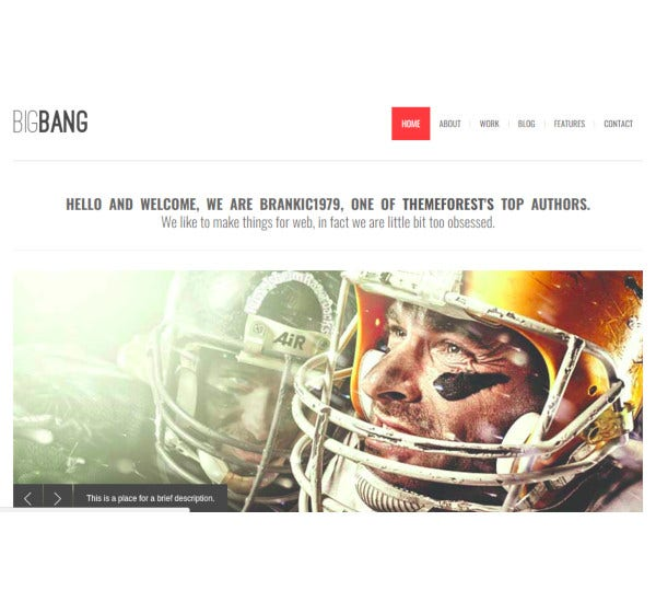 bigbang responsive wordpress template