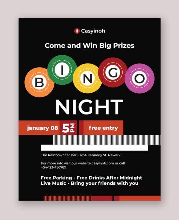 bingo flyer template1