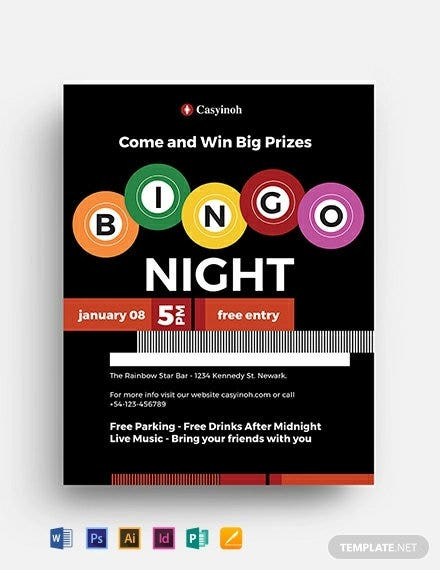 bingo flyer template2