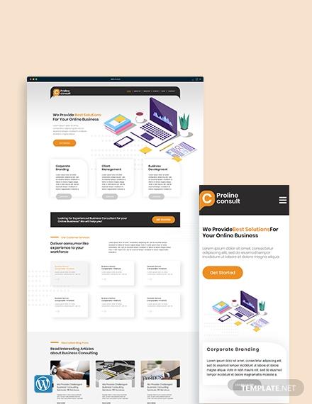 business consultant wordpress themetemplate
