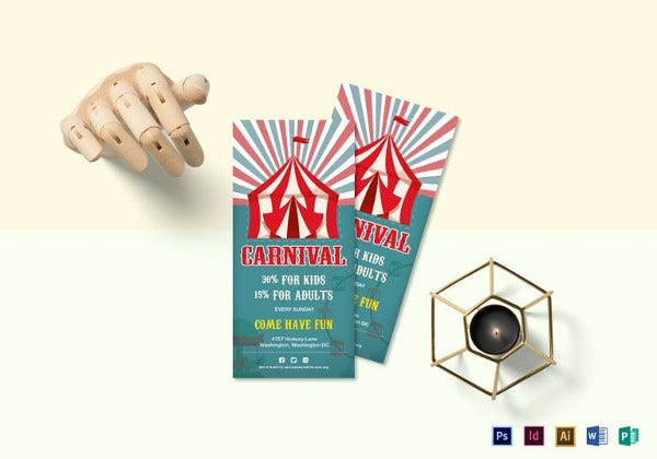 carnival discount coupon indesign template
