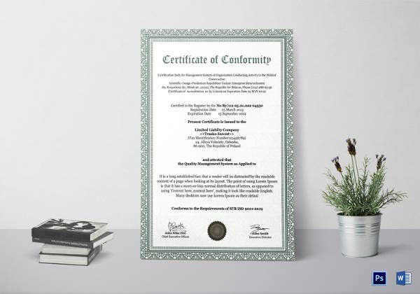 certificate-of-conformity-template